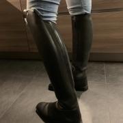 Mooie Petrie laarzen, Padova black, weinig gebruikt