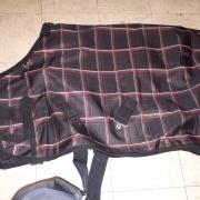2 nieuwe fleece gevoerde regendekens rug 75cm
