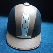 Kavalkade cap Maat: 57 zwart/bruin.