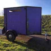 leuke mini paarden trailer