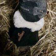Kentucky springschoenen zwart met bont maat L