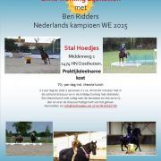 27 mei clinic Working Equitation o.l.v. Ned. Kampioen 2015