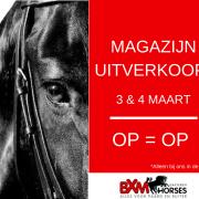 OUTLET!  MAGAZIJN LEEGVERKOOP BXM-HORSES