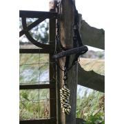 Zwart glitterhalster met touw COB/FULL