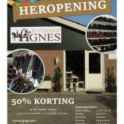 50% korting op elk tweede artikel bij Ruitershop Agnes