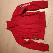 Rode ongevoerde kingsland bomber jas