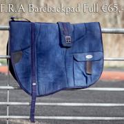 F.R.A Barebackpad inclusief singel, maat Paard
