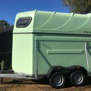 1,75 brede paarden trailer ook voor 2 pony's alu bodem