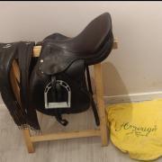 Bruin Leren Amerigo Pinorolo springzadel TWV €4500 + TBH