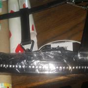 Zwart leder halster mini shet