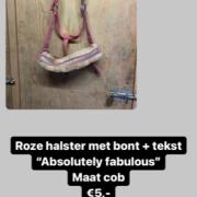"""Absolutely Fabulous"" roze halster met bont COB"