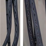 Beugelriemen Zwart met Wit stiksel Full 160 cm