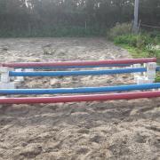 Kunststof cavaletti blokken en springbalken 3m