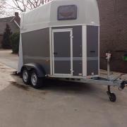 Humbaur Rapid 2 paards trailer, met zadelkamer