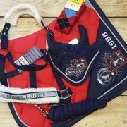 Sportieve rood/navy set