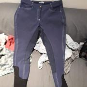 Blauwe rij broek