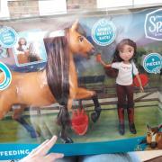 Groot etend Spirit paard met Lucky