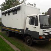 Daf 800 paardenvrachtwagen