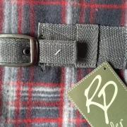 Fleece deken / zweetdeken, grijs geruit, maat 175 en 195