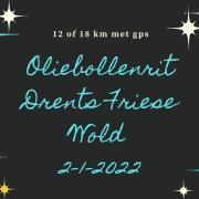 Oliebollenrit 2 jan. Drents Friese Wold