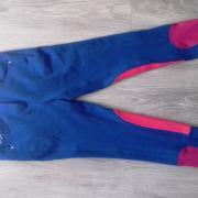 Rijbroek, Red Horse Carmen, blauw/roze, maat 176