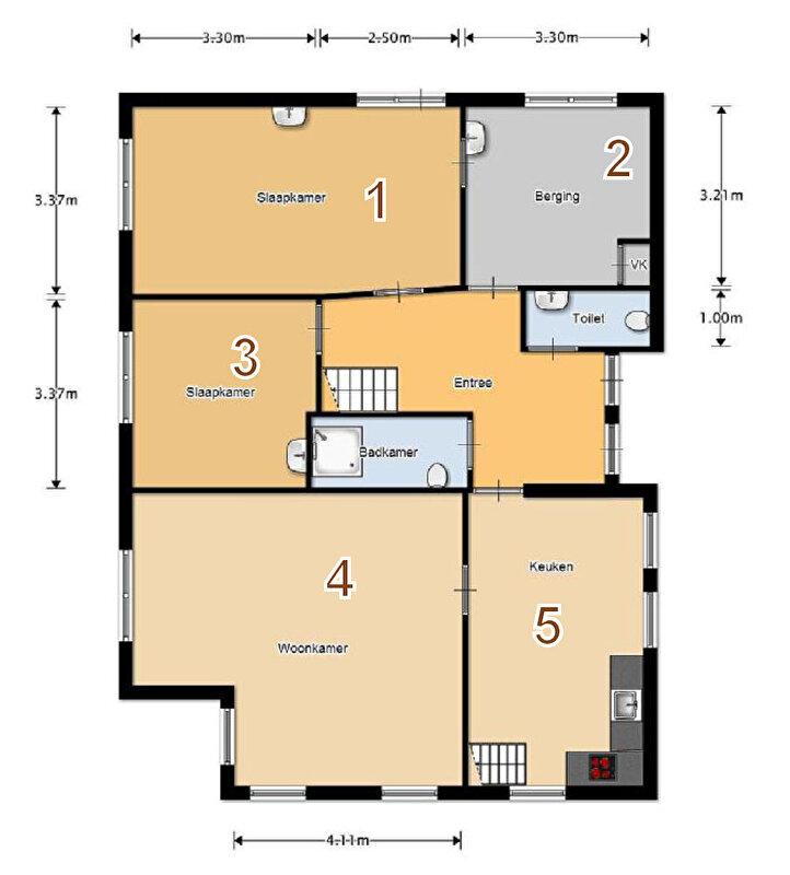Kamer plattegrond maken for Praktische indeling huis