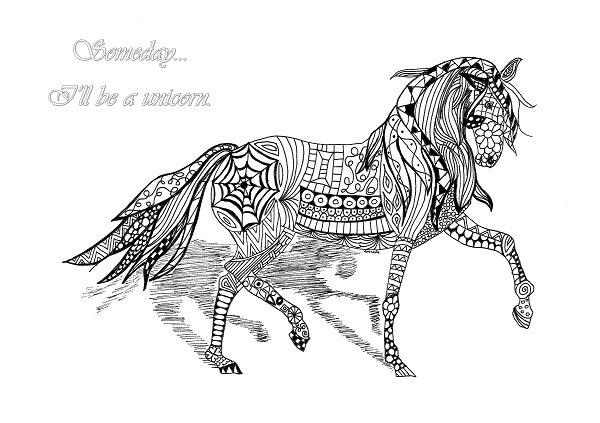 Afbeelding 23 Kleurplaat Tek Paarden Maar Dan Anders Tangled Art Bokt Nl