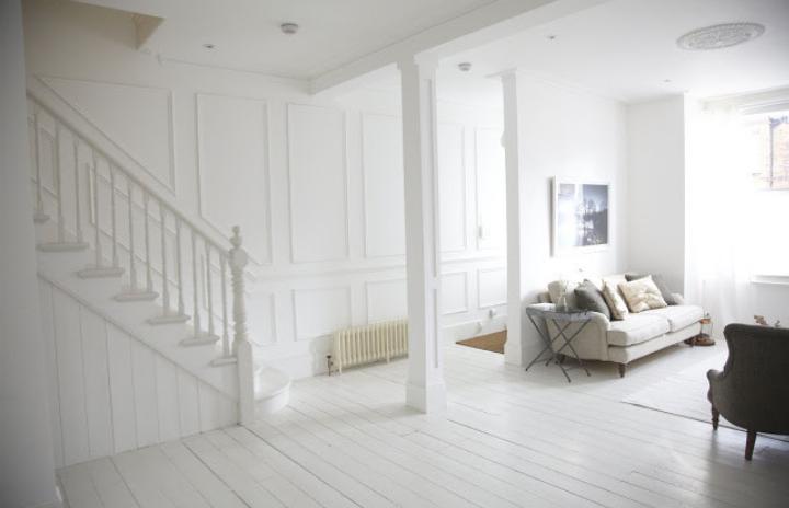 Houten vloer zelf wit schilderen - Verf voor gang ...