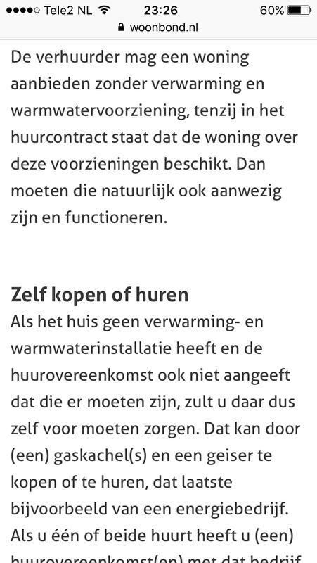 Populair Hulp gezocht, huurwoning geen verwarming.. • Bokt.nl RE05