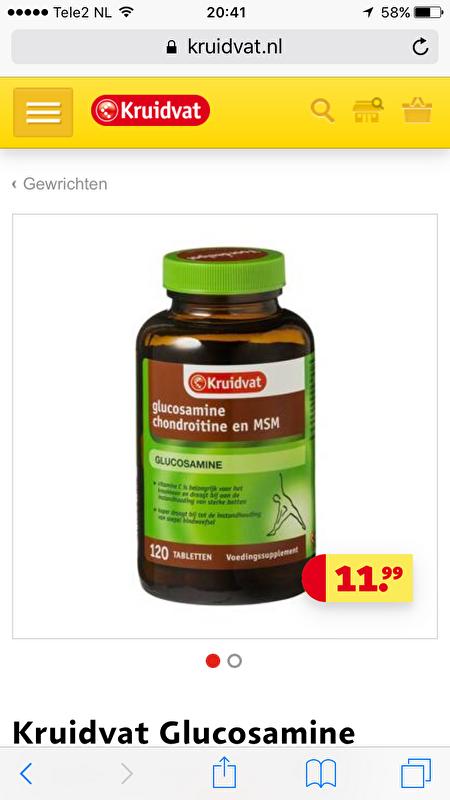 artrose glucosamine chondroitine msm