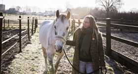 Callie in de winterzon!