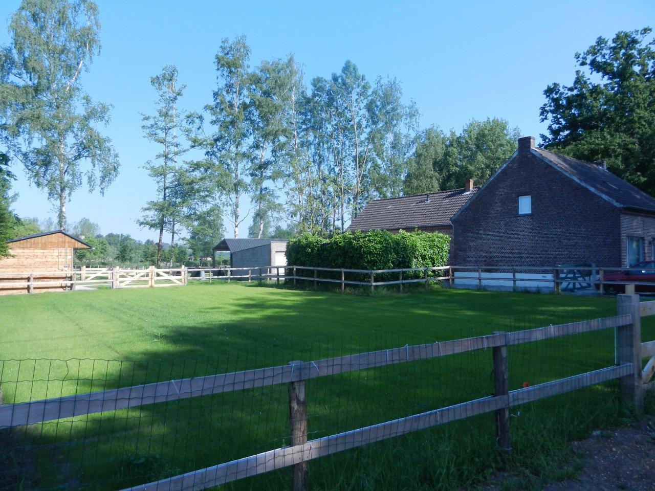 te huur in belgie boerderij met paardenstallen en weiland