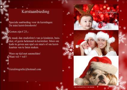 kerst mini shoot aanbieding! | Bokt.nl