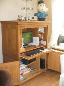 Computerkast Oud Grenen.Oud Grenen Computerkast Met Rolluik En Deurtjes Bokt Nl