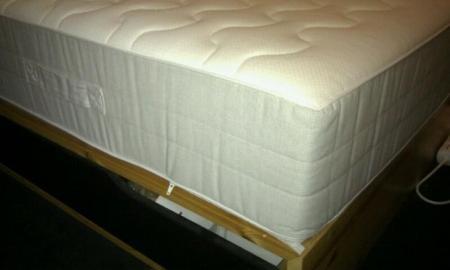 mandal bedframe gloednieuw sultan hamnvik matras. Black Bedroom Furniture Sets. Home Design Ideas