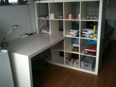 Ikea expedit bureau met kast for Bureau kallax